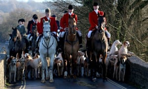 Avon Vale Hunt riders and hounds on their traditional Boxing Day hunt