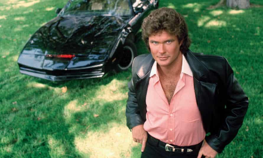 David Hasselhoff and KITT in Knight Rider