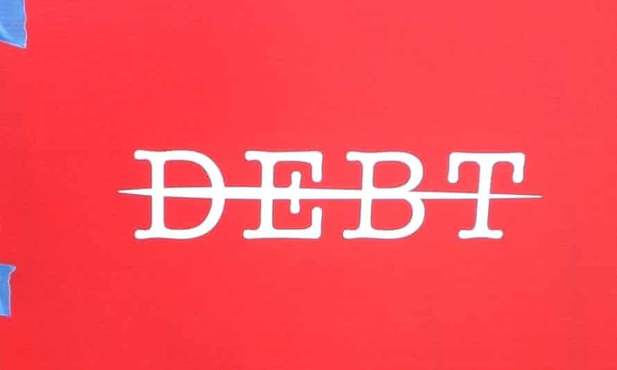 strike debt sign
