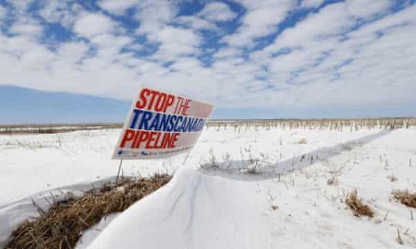An anti-pipeline sigh near Bradshaw, Nebraska, along the Keystone XL route.