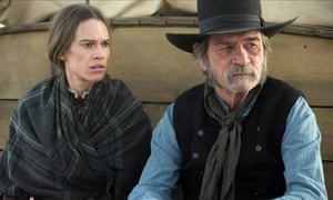 Swank and Tommy Lee Jones in The Homesman.