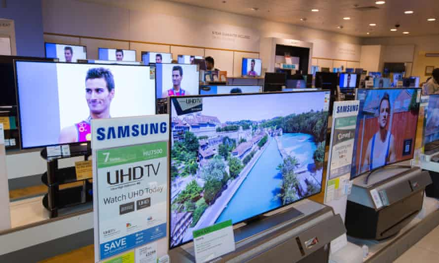Large flat-screen TVs for sale