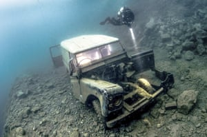Highly commended by the judges:  Elaine White – Diver on Land Rover – Chepstow National Dive Centre -