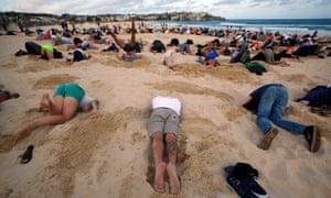 Bondi beach climate change protest