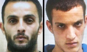 Alleged terrorists, cousins Ghassan and Uday Abu Jamal, residents of Jabel Mukaber. One of them worked in the supermarket adjacent to the synagogue