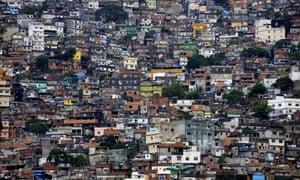 A slum in Rio de Janeiro.
