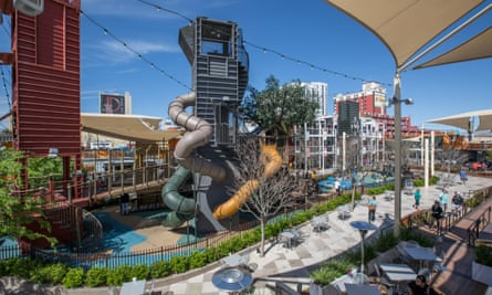 Container Park Treehouse.For Cities: Downtown Project in Las Vegas