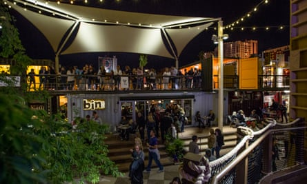 Container Park - Evening.For Cities: Downtown Project in Las Vegas