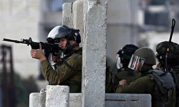 Israeli security forces in the West Bank