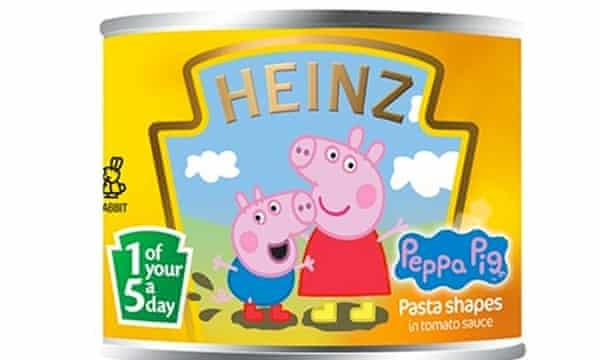 Peppa Pig pasta shapes.
