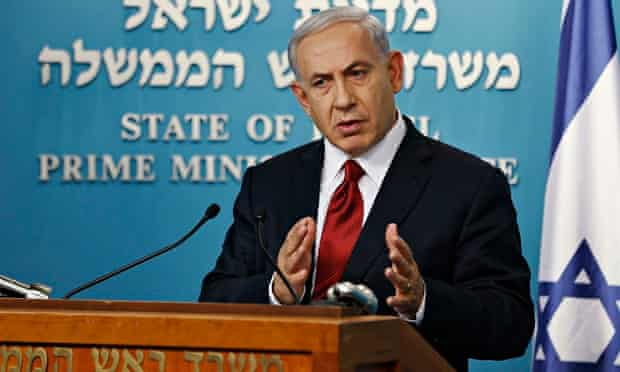 Israel's PM Netanyahu delivers a statement to the media in Jerusalem