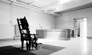 An empty electric chair at Sing Sing Prison in Ossining, New York.