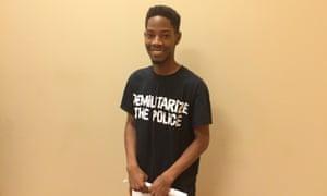 "Rasheen Lamont Aldridge, 20: ""I'm going to make sure my voice is heard""."