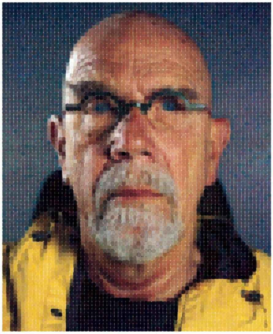 Chuck Close, Self-Portrait (Yellow Raincoat), 2013