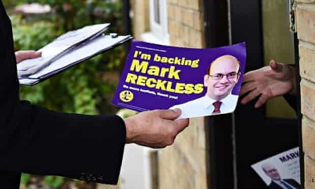 Ukip leaflet for Mark Reckless