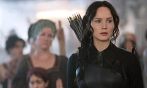 Waiting to fly ... Jennifer Lawrence in The Hunger Games: Mockingjay Part 1