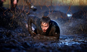 Electroshock therapy at Tough Mudder event