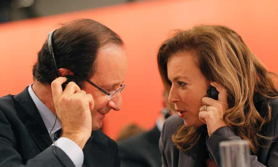 Valérie Trierweiler with François Hollande in 2011.