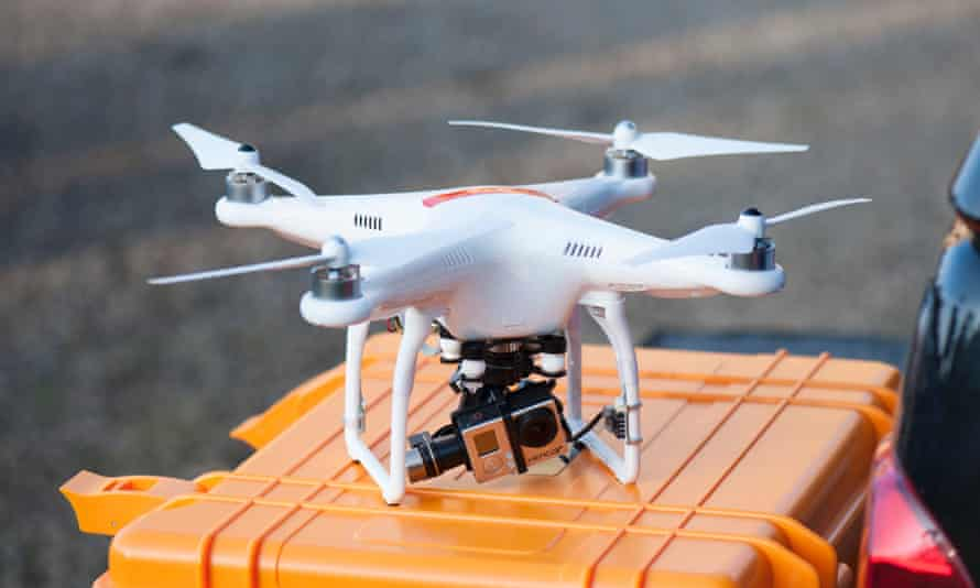 Sky's the limit: the bestselling DJI Phantom 2 can carry a GoPro video camera with a motor drive. It costs from £700.
