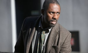 Actor Idris Elba in BBC TV show Luther