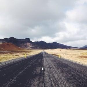 The road to Krisuvik, Iceland