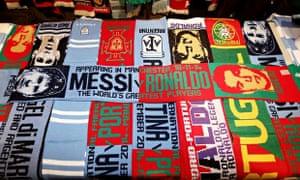 Messi v Ronaldo scarf
