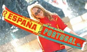 Spain v Portugal scarf