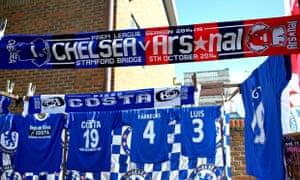 Chelsea v Arsenal scarf