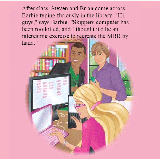 Fix a page from Barbie's book