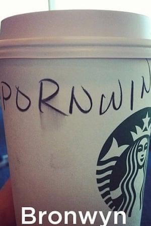 Starbucks misspelt name