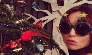 Sophie Ellis-Bextor in festive shades.