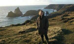 Jenny Agutter on a coastal walk.