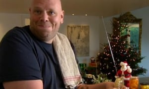 Tom Kerridge gets the cooking started on Christmas morning.