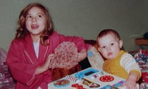 Melanie Chisholm with her young brother.
