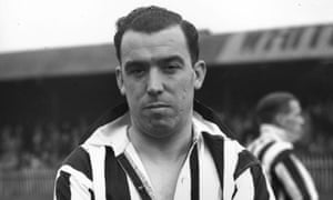 England and Everton footballer Dixie Dean playing for Notts County shortly before he retired in 1938.