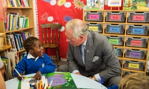 Charles at a primary school in Chester