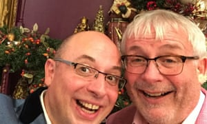 Christopher Biggins with his partner in their Christmas photo.
