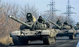 Pro-Russia tanks in Ukraine