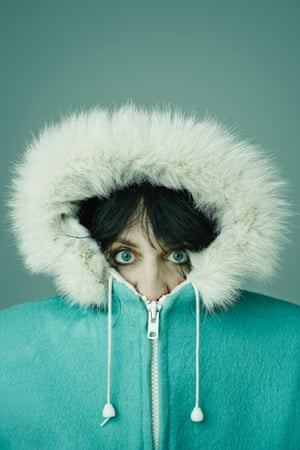 Noel Fielding in a parka