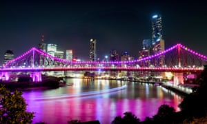 The Story Bridge is lit up in Brisbane ahead of the G20 leaders summit on 15 and 16 November.