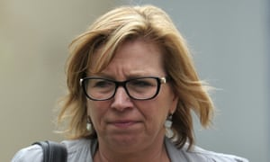 Rosie Batty arrives at the coroners court of Victoria in Melbourne.