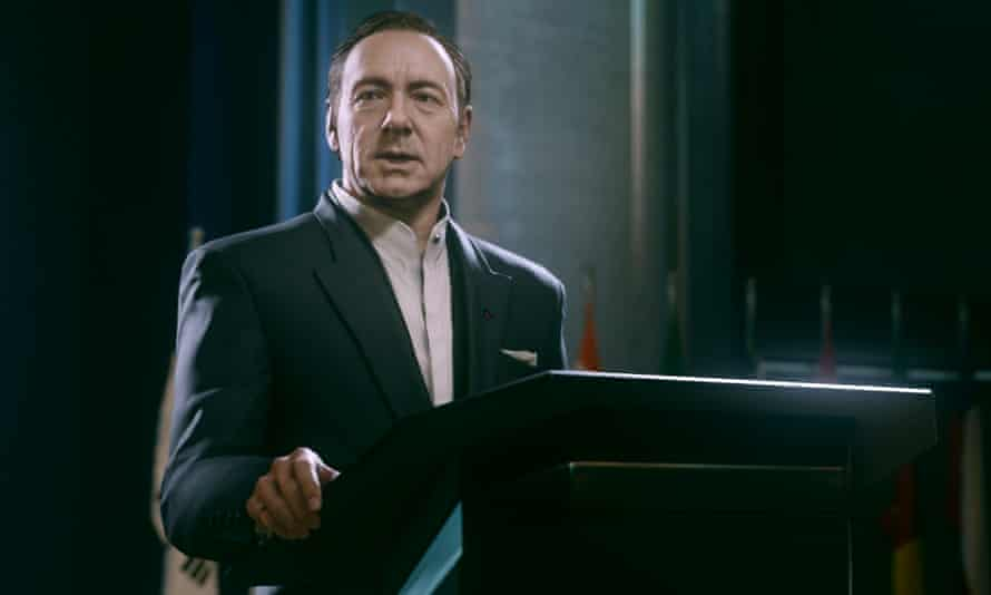 Kevin Spacey as Jonathan Irons in Call of Duty: Advanced Warfare.