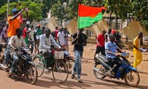 Celebrations in Ouagadougou following the resignation of President Blaise Compaoré on