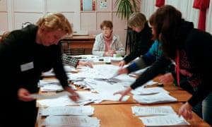 Donetsk polling station