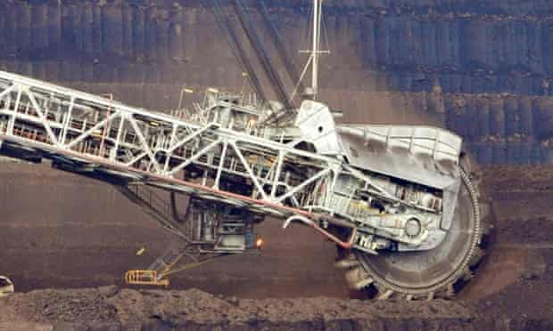 A dredger at a coal mine. Campaigners have called on the Dutch pension fund ABP to drop coal investments.