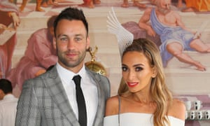 Jimmy Bartel and Nadia Coppolino at the Lavazza Marquee.