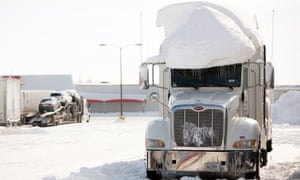 Snow-covered truck