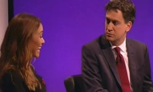 Ed Miliband was 'blindsided by a sassy attack about the mansion tax from Myleene Klass, a well-briefed pop star'.