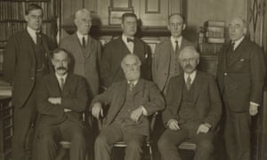 Directors of the Manchester Guardian in 1921. WP Crozier is standing second from the right in the back row. Then editor CP Scott is seated in the middle of the front row.