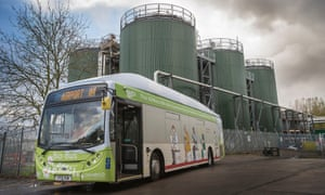 The Bio-Bus, powered entirely by human and food waste runs a service between Bath and Bristol Airport